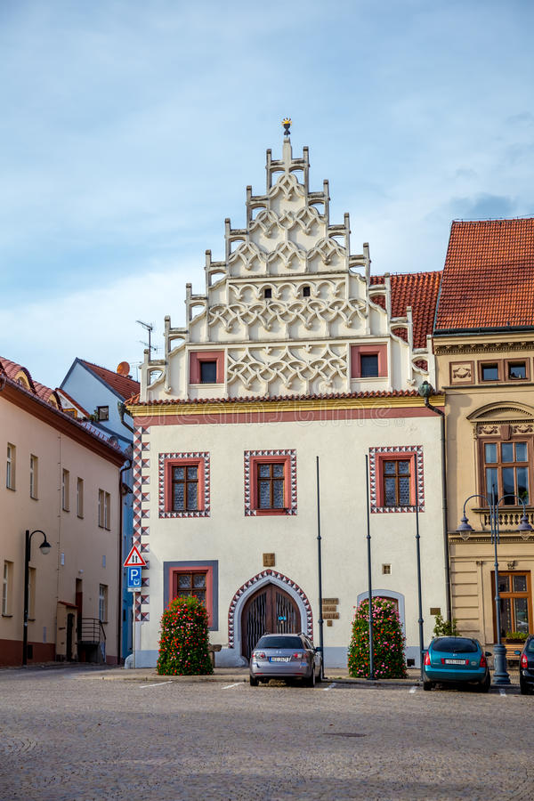 Ancient buildings in Tábor. Photography of ancient buildings in Tábor Czech Republic stock photography