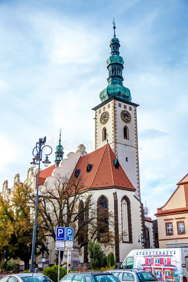 Ancient buildings in Tábor. Photography of ancient buildings in Tábor Czech Republic stock image