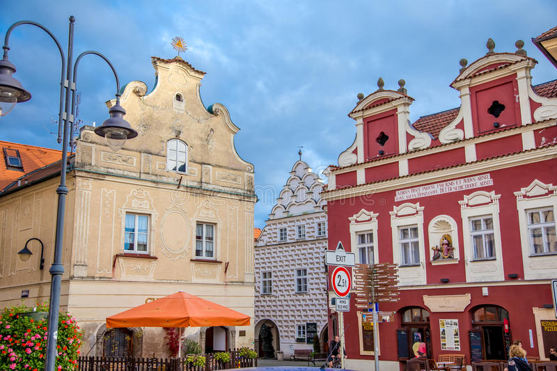 Ancient buildings in Tábor. Photography of ancient buildings in Tábor Czech Republic royalty free stock photography