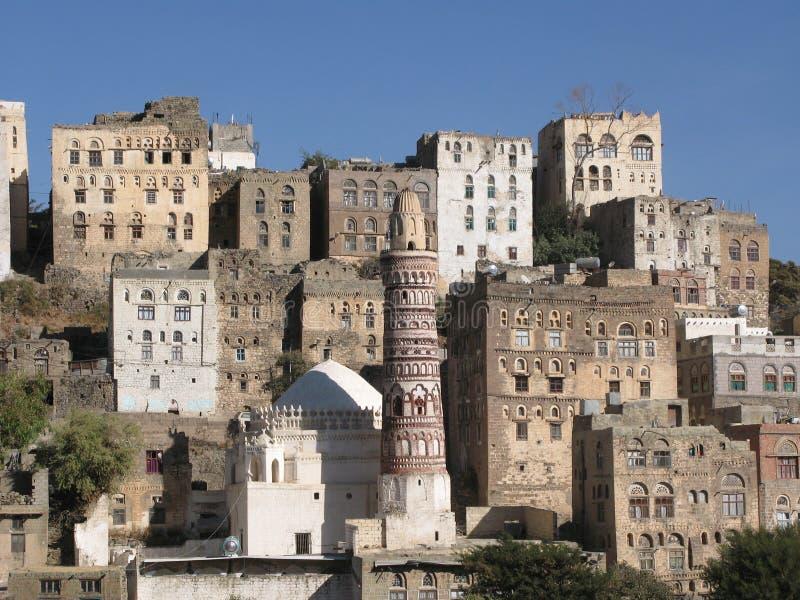 Ancient buildings in Yemen stock photo