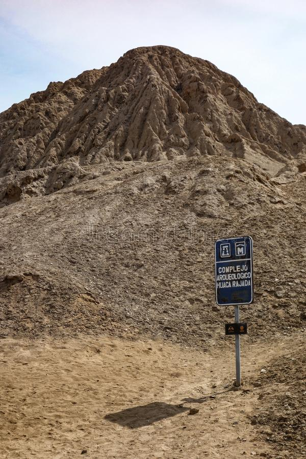 The Royal Tombs of the Lord of Sipan. Chiclayo, Peru. Ancient burial sites at the Huaca Rajada, the Royal Tombs of the Lord of Sipan. Chiclayo, Peru royalty free stock photos