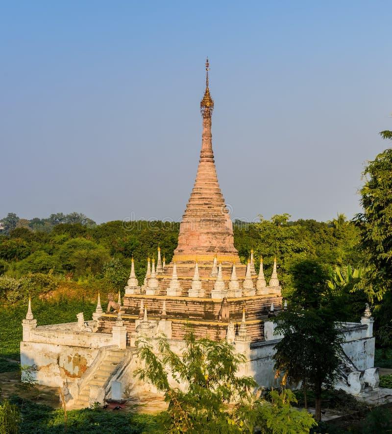 Ancient Burmese pagoda in Inwa, Myanmar. Burmese pagoda at Maha Aungmye Bonzan Monastery in Inwa, Myanmar royalty free stock photo