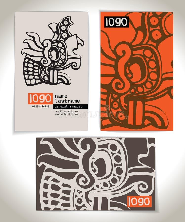 Ancient Business Card Design Stock Vector - Illustration: 39283427