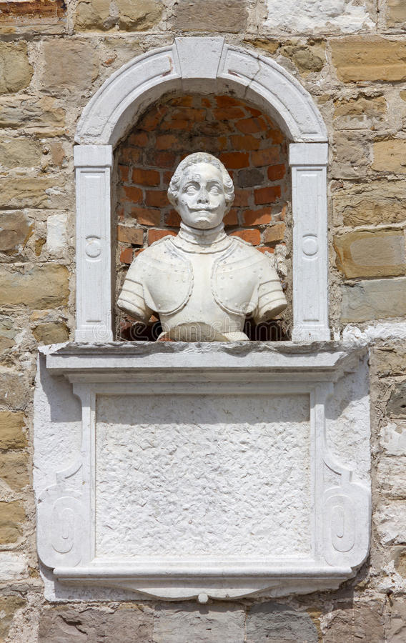 Ancient Bust In A Niche