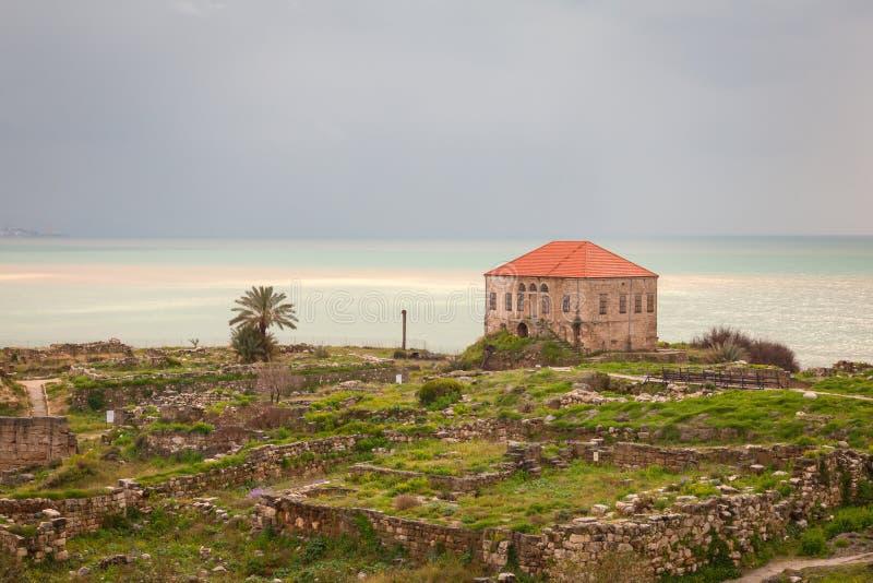 Download Ancient Byblos Ruins stock photo. Image of seashore, building - 24920390