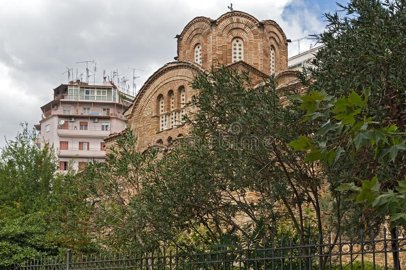Ancient Byzantine Orthodox church of St. Panteleimon in the center of city of Thessaloniki, Greece. Ancient Byzantine Orthodox church of St. Panteleimon in the royalty free stock photo