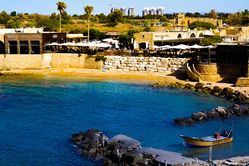 Ancient Caesarea Beach stock photography