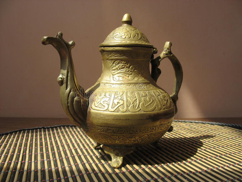 Ancient cafetiere royalty free stock image