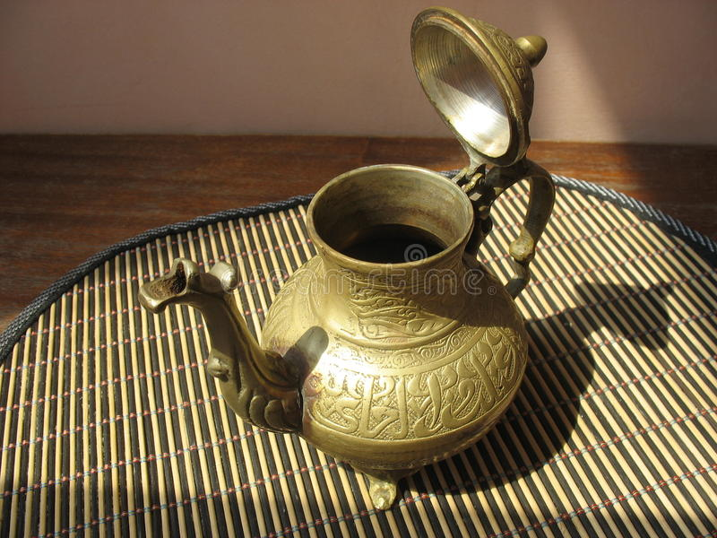 Ancient cafetiere royalty free stock photos