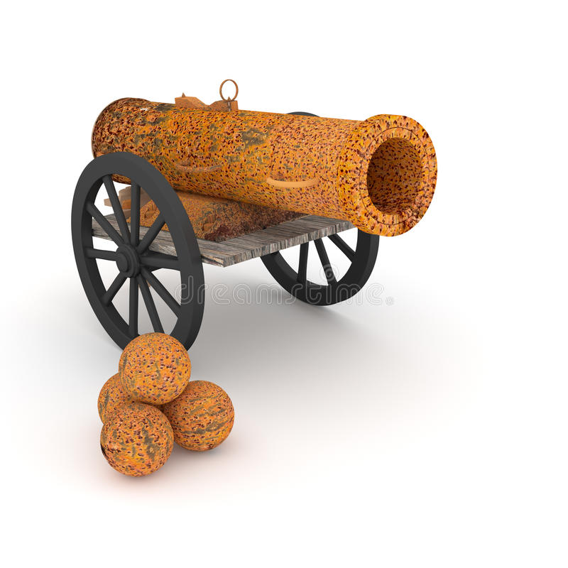 Download Ancient cannon. stock illustration. Image of cannon, metaphors - 41874444