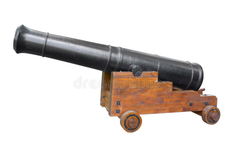 Ancient cannon, isolation on a white background. Ancient cannon. Isolation on a white background. A photo close up royalty free stock photos