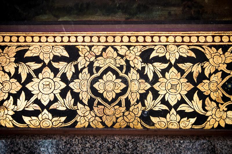 Ancient carvings beautiful flower. royalty free stock images