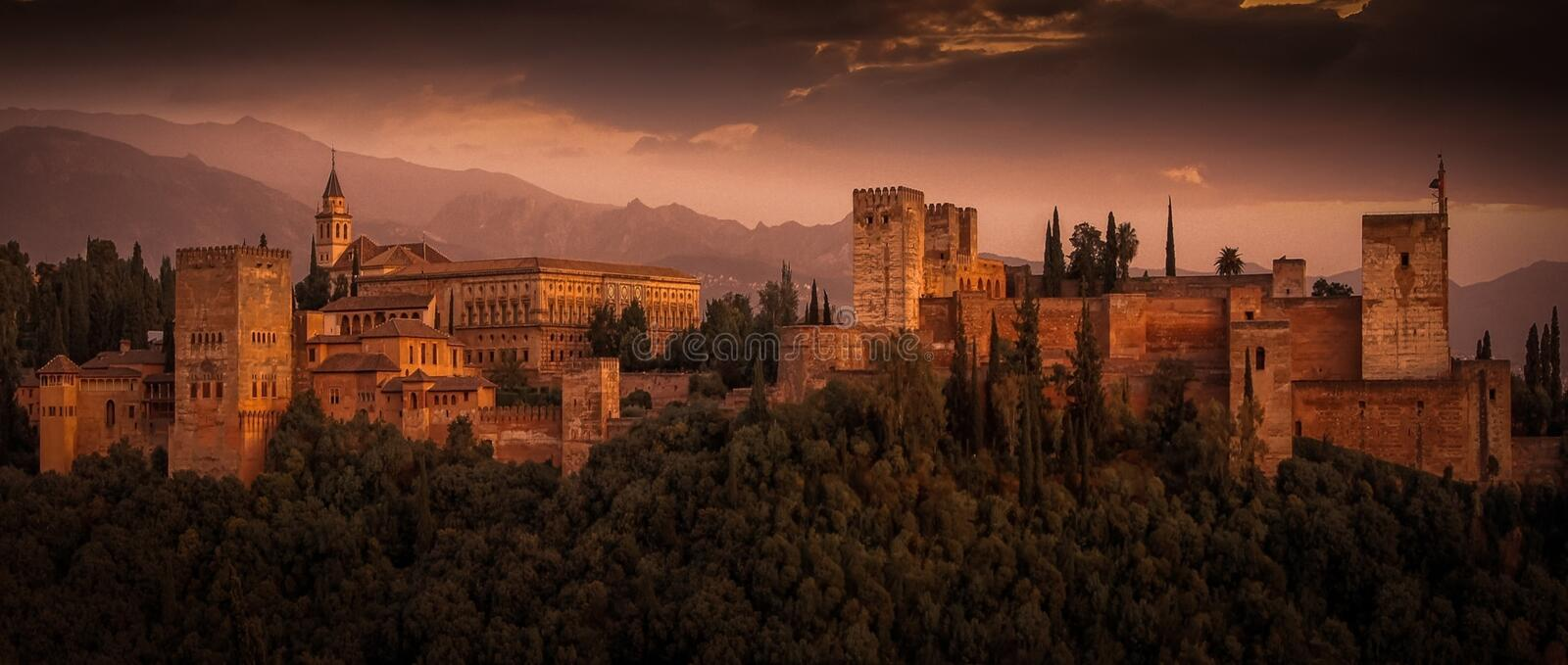 Ancient, Castle, Clouds stock photography