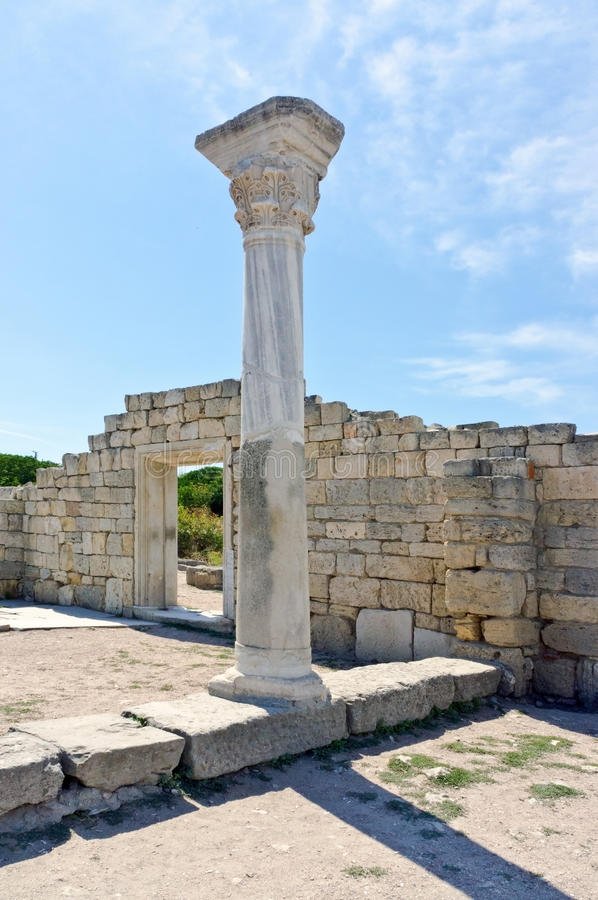 Download Ancient Castle With Columns Stock Photo - Image: 26377964