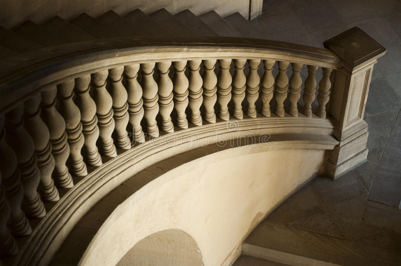 Ancient Castle curved stairs stock image