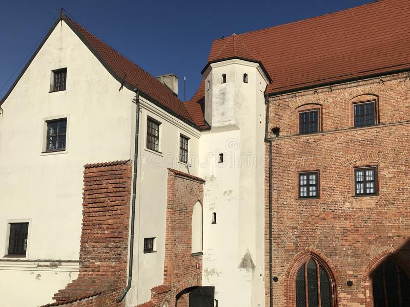 Ancient castle in Darlowo Poland royalty free stock photos