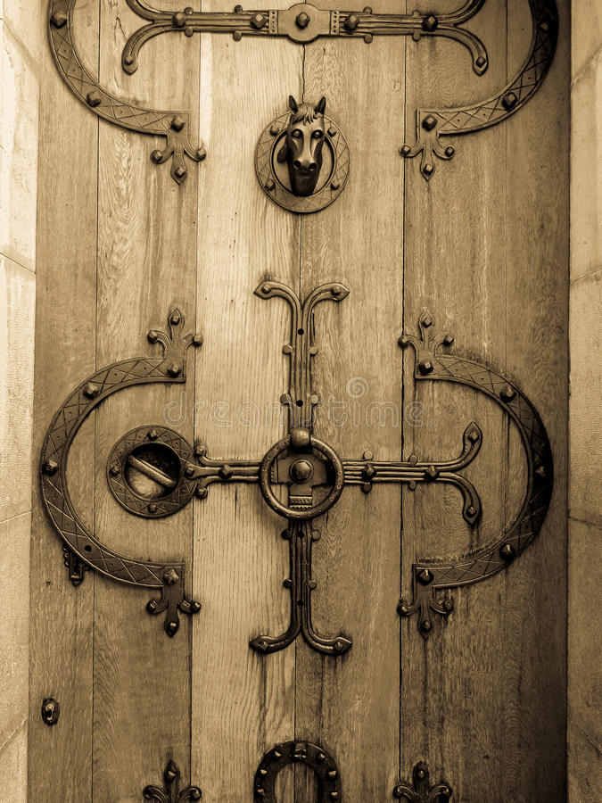 Ancient Castle Door Royalty Free Stock Photography