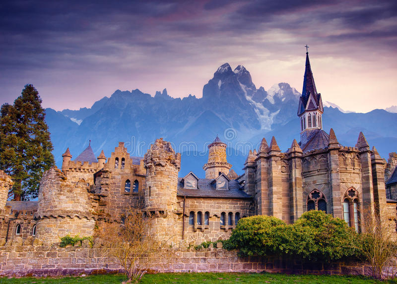 Ancient castle. Fantastic views the beauty of the world. Germany. Ancient castle. Fantastic views the beauty of the world Germany Europe royalty free stock images