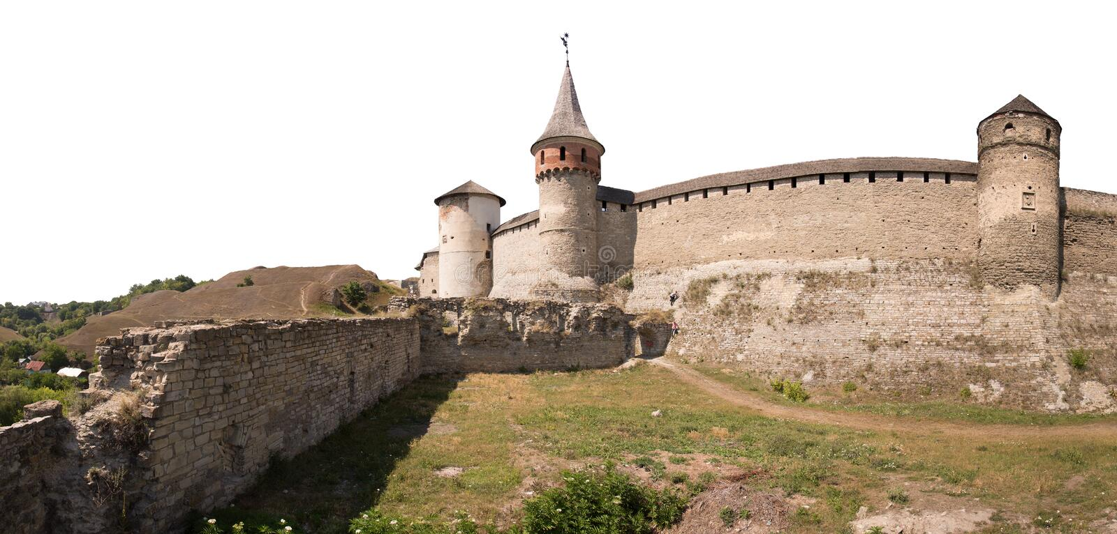 Ancient castle. Kamenetz-Podolsk, Ukraine stock image