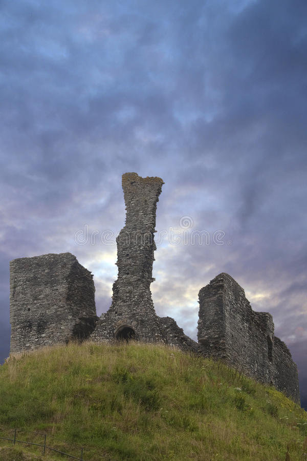 Ancient Castle Ruins On Hill Royalty Free Stock Images