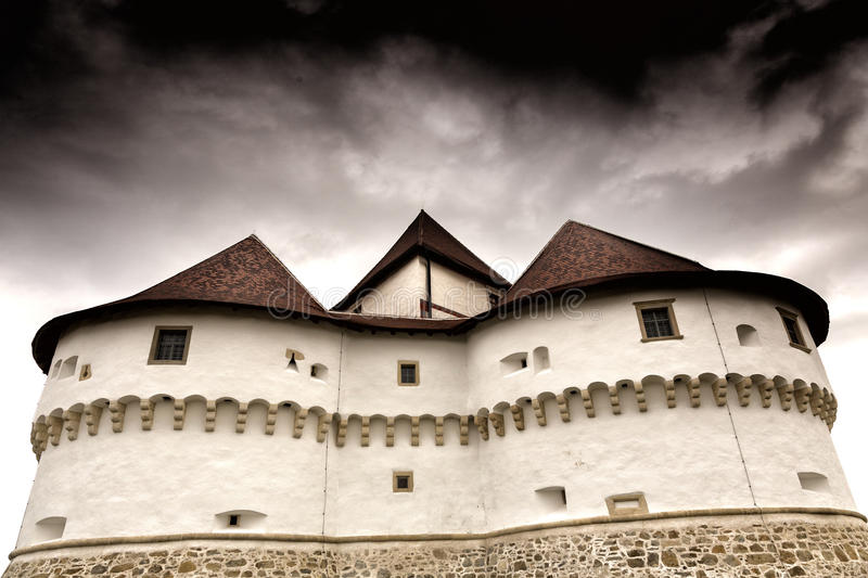 Ancient castle. The ancient castle Tabor in Zagorje region in Croatia.under the storm sky royalty free stock images