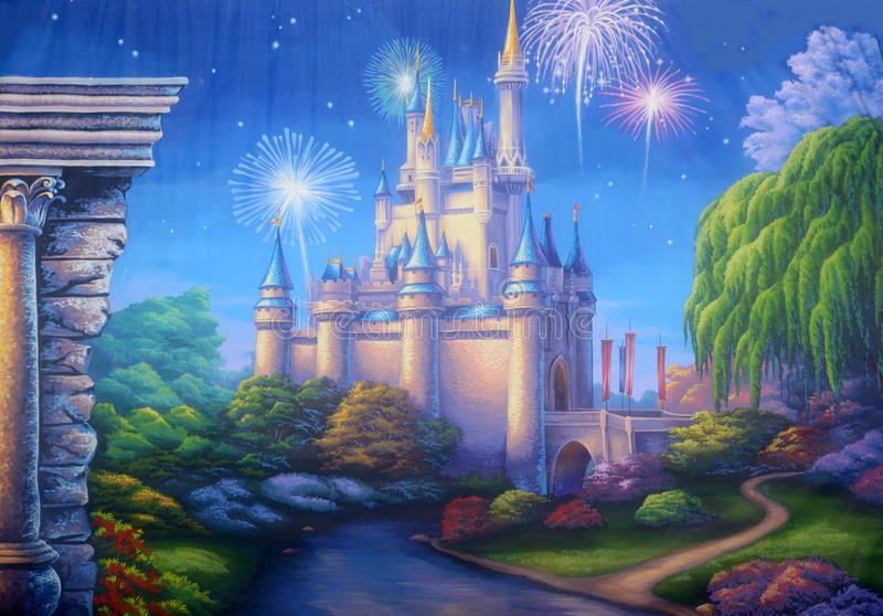 Ancient castle royalty free illustration