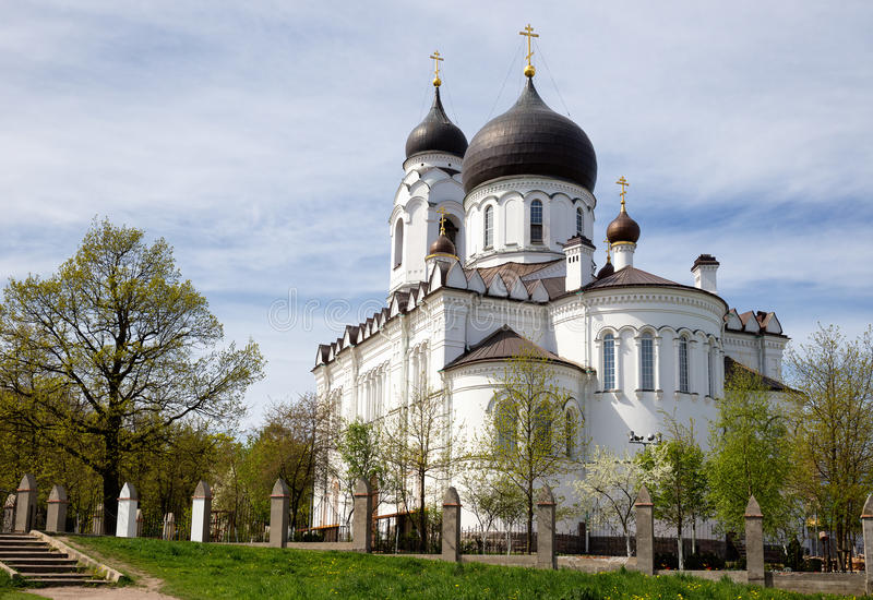 Ancient Cathedral in Lomonosov (Oranienbaum), Russia. Ancient Cathedral of St. Archangel Michael in Lomonosov (Oranienbaum), Russia royalty free stock photos
