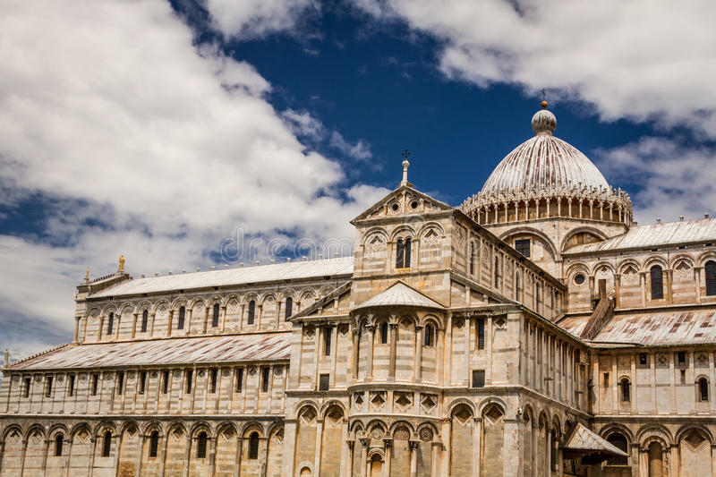 Ancient cathedral in Pisa stock photos