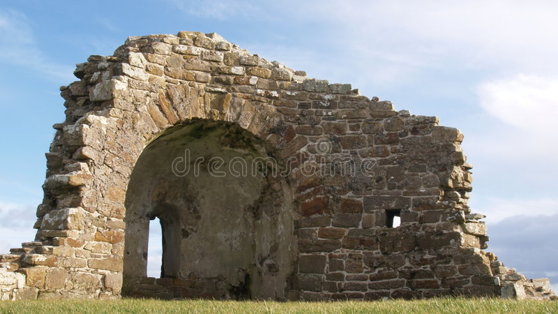 Ancient Catholic church Orphir royalty free stock images