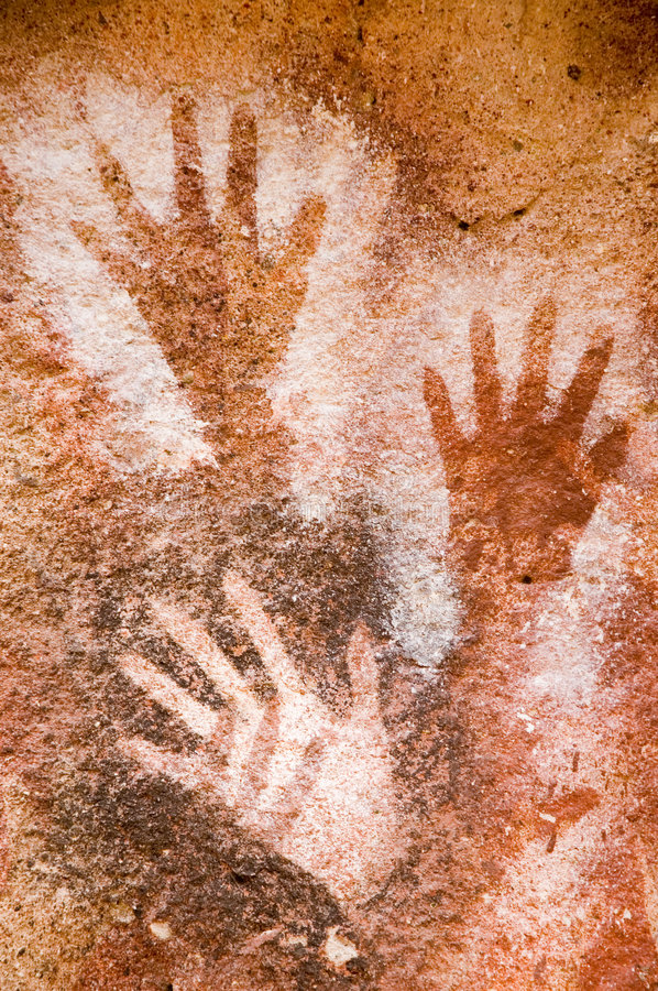 Free Ancient Cave Painting In Patagonia Royalty Free Stock Image - 5364186