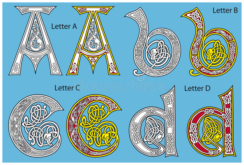 Download Ancient Celtic alphabet stock vector. Image of pattern - 18859785