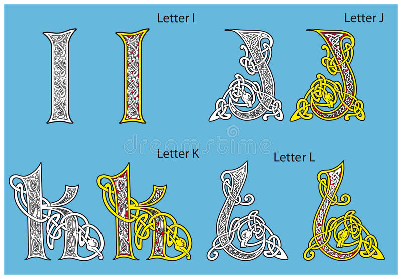 Download Ancient Celtic alphabet stock vector. Illustration of culture - 18859794
