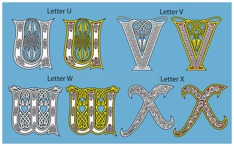 Download Ancient Celtic alphabet stock vector. Image of revival - 18859812