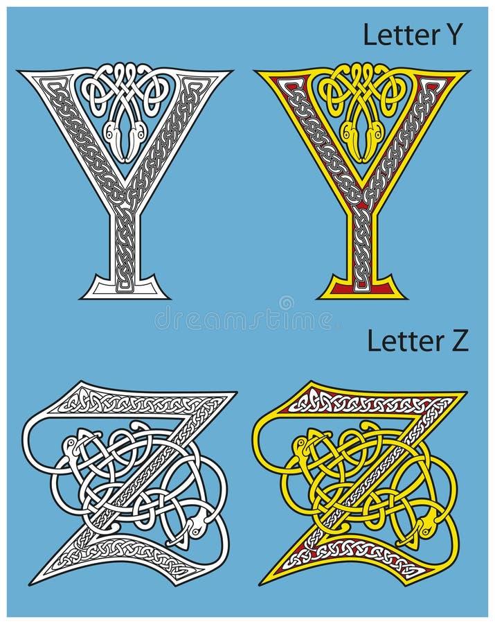 Download Ancient Celtic alphabet stock vector. Illustration of illustration - 18859815