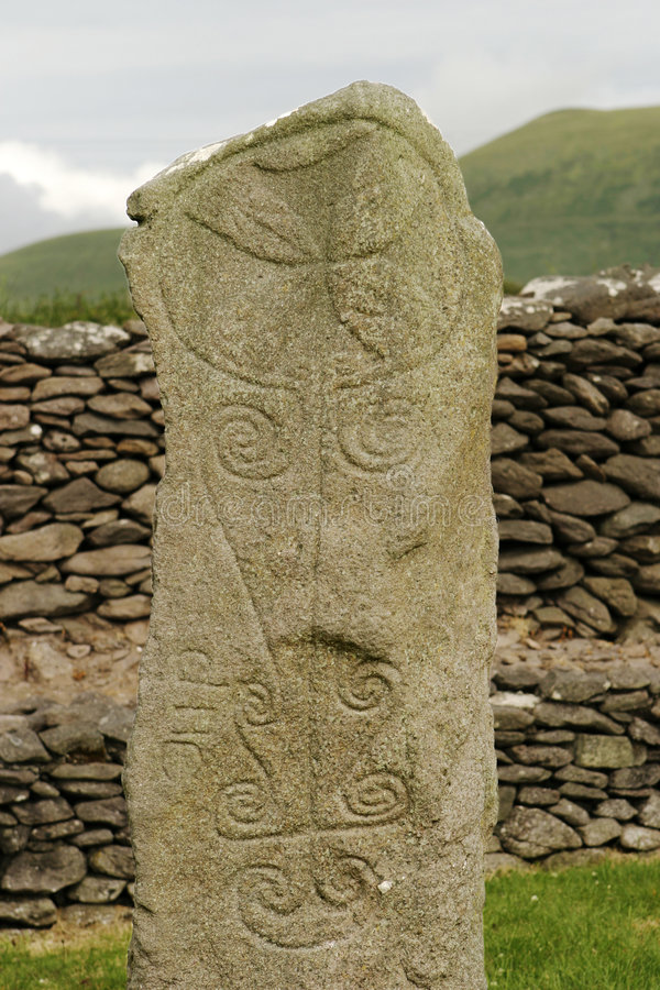 Ancient Celtic Tombstone stock photography