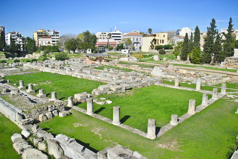 Ancient cemetery of Athens Kerameikos Greece stock photography