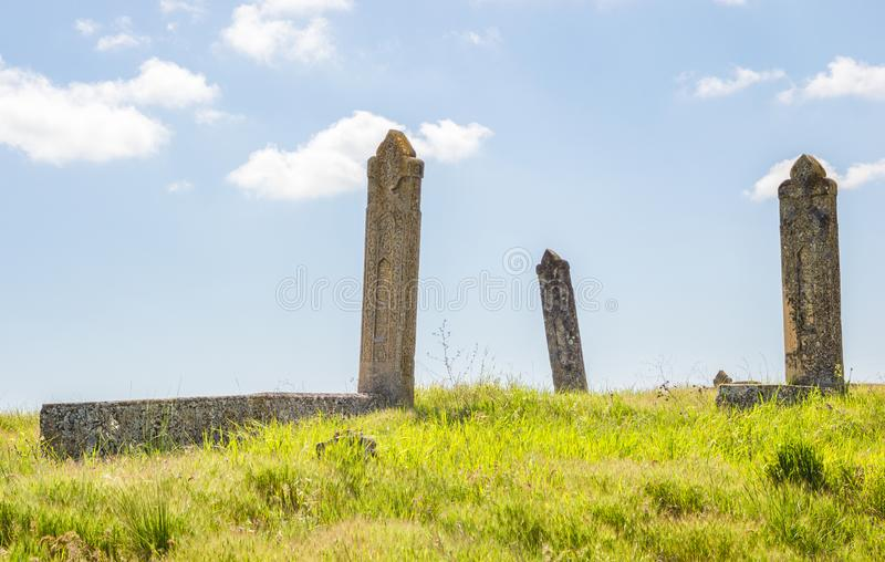 Graves of ancient burials stock photography