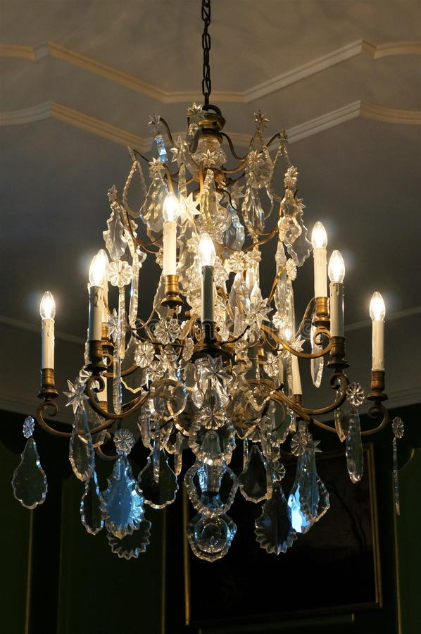 An ancient chandelier stock image