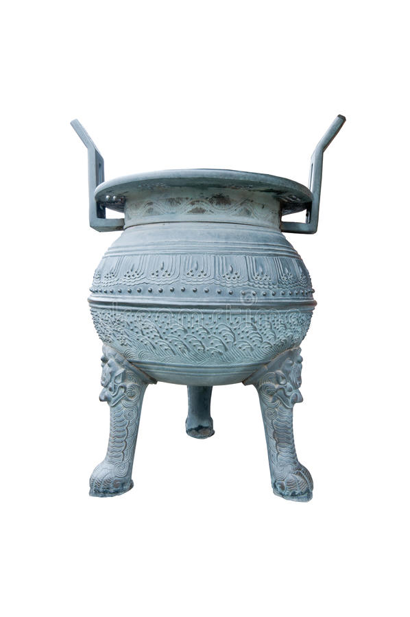 An ancient chiminea in Korean palace royalty free stock photo
