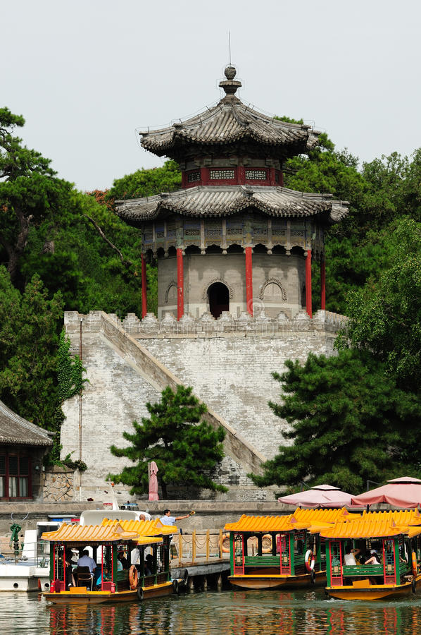 Ancient Chinese architecture stock photography