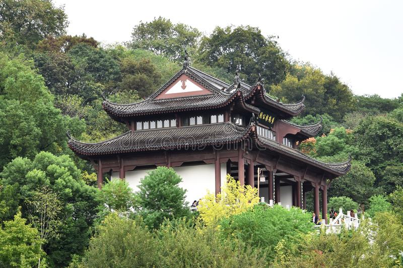 Ancient Chinese Architecture: Yellow crane temple. Chinese architecture is an architectural style that developed over millennia in China, before spreading out to royalty free stock photography