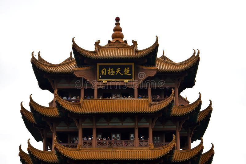 Ancient Chinese Architecture: Yellow crane temple. Chinese architecture is an architectural style that developed over millennia in China, before spreading out to royalty free stock photos