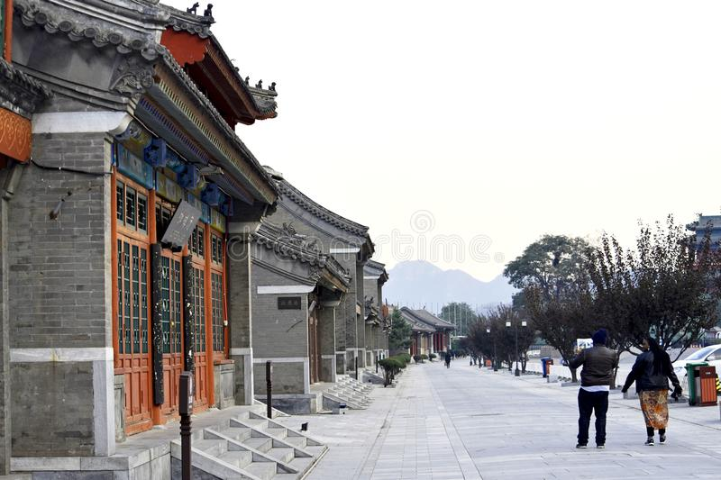 Ancient Chinese Architecture: Yellow crane temple. Chinese architecture is an architectural style that developed over millennia in China, before spreading out to royalty free stock image