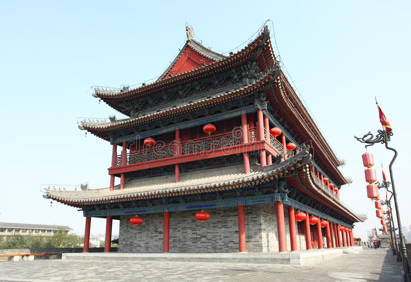Download Ancient Chinese building stock image. Image of building - 22153163
