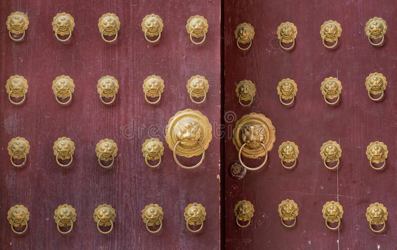 Download Ancient chinese door stock photo. Image of design, close - 9552922
