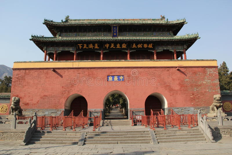 Ancient Chinese gate tower royalty free stock photography