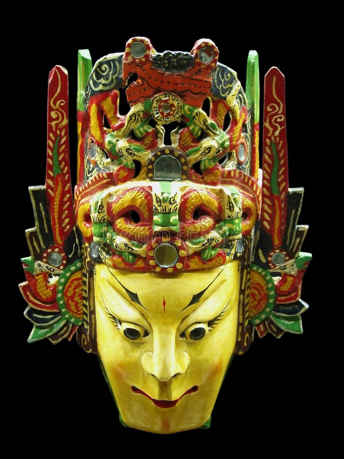 Ancient Chinese Minority Mask royalty free stock images
