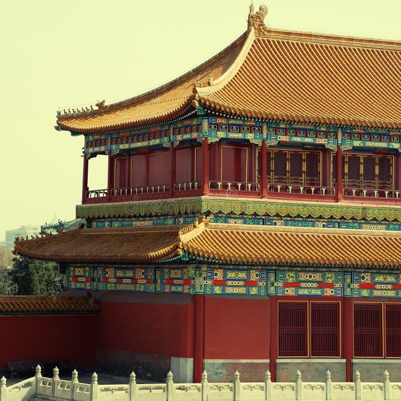 Ancient chinese pagoda (Beijing, China) royalty free stock image