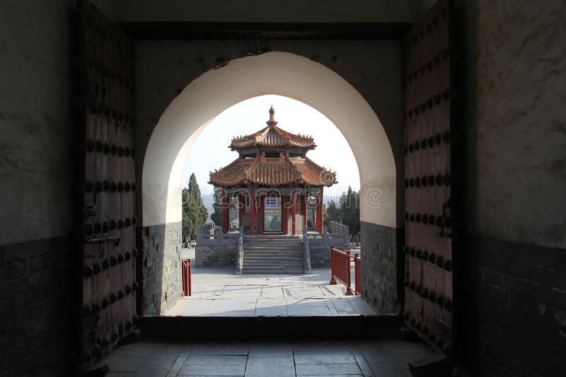 Ancient Chinese Pavilion stock image