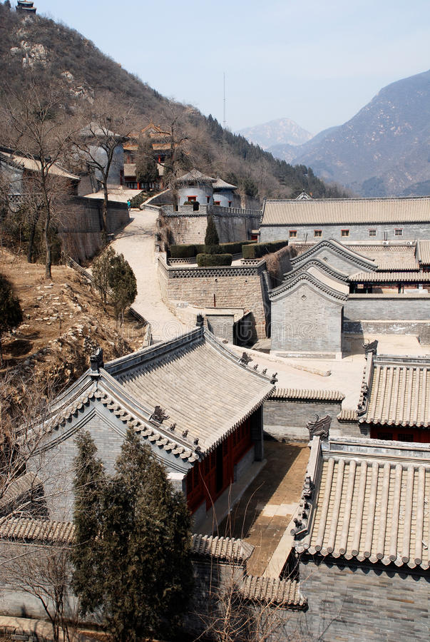 Ancient chinese stone village (Beijing, China) royalty free stock images
